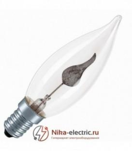 Лампа свеча мерцающий огонь Osram 3W E14 прозрачная