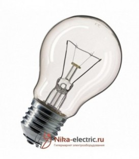 Лампа накаливания 75W E27 прозрачная