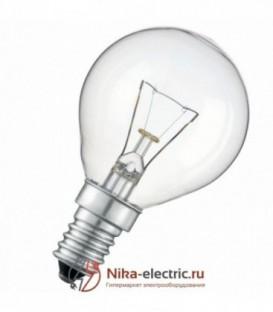 Лампа накаливания шарик 60W E14 прозрачная