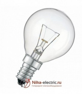 Лампа накаливания шарик 25W E14 прозрачная