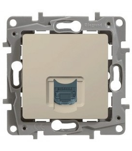 Компьютерная розетка Etika RJ45 кат 6 (слоновая кость)