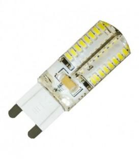Лампа светодиодная капсула силикон Feron 4W 6400K 230V G9 64LED холодный свет