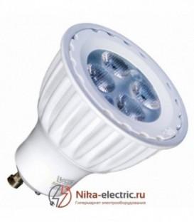 Лампа светодиодная VS LED MR16 6W (50W) 4000K 50° 220V GU10 белый корпус