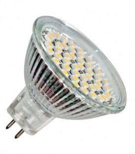 Лампа светодиодная Feron MR16 3W 6400K 220V GU5,3 44LED прозрачная холодный свет
