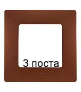 Рамка 3-ая Legrand Etika (какао)