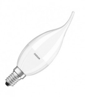 Лампа светодиодная свеча на ветру Osram LED CLAS BA FR 40 5,4W/827 DIM 470lm 220V E14