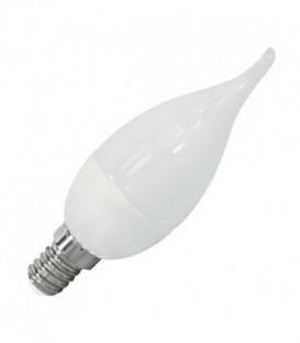Лампа светодиодная свеча на ветру FL-LED CA37 5,5W 6400К 220V E14 37х113 510Лм холодный свет