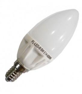 Лампа светодиодная свеча FL-LED-B ECO 9W 4200К 670lm 220V E14 белый свет
