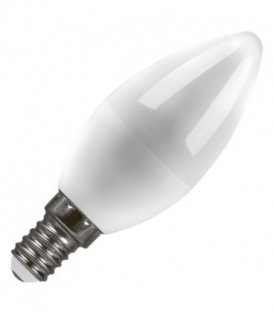 Лампа светодиодная свеча Feron 7W 4000K 230V E14 16LED белый свет
