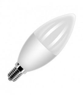 Лампа светодиодная свеча FL-LED C37 5,5W 6400К 220V E14 37х108 510Лм холодный свет