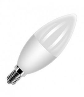 Лампа светодиодная свеча FL-LED C37 7,5W 6400К 220V E14 37х108 700Лм холодный свет