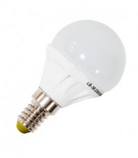 Лампа светодиодная шарик Feron 5W 2700K 230V E14 9LED G45 теплый свет