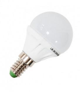 Лампа светодиодная шарик Feron 5W 4000K 230V E14 9LED G45 белый свет
