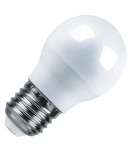 Лампа светодиодная шарик Feron 7W 6400K 230V E27 16LED G45 холодный свет