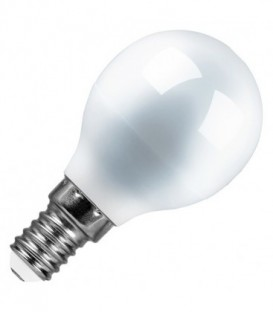 Лампа светодиодная шарик Feron 7W 6400K 230V E14 16LED G45 холодный свет