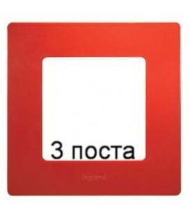 Рамка 3-ая Legrand Etika (красный)