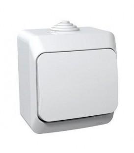 ЭТЮД Выключатель 1кл наружный IP44 белый