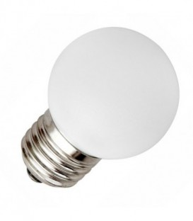 Лампа светодиодная шарик Feron 1W 230V E27 5LED белый (6400K холодный свет)
