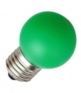 Лампа светодиодная шарик Feron 1W 230V E27 5LED зеленый