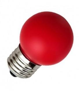 Лампа светодиодная шарик Feron 1W 230V E27 5LED красный