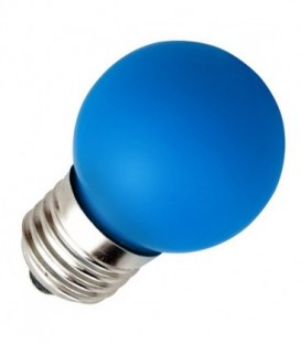 Лампа светодиодная шарик DECOR GL45 LED 0,6W BLUE 230V E27 синий