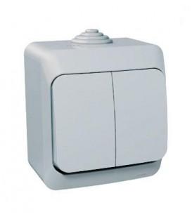 ЭТЮД Выключатель 2кл наружный IP44 серый