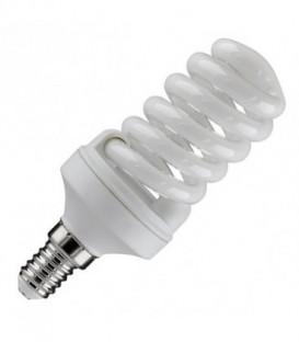 Лампа энергосберегающая 15W 2700K E14 спираль d46x98 теплая