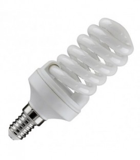 Лампа энергосберегающая 15W 6400K E14 спираль d46x98 холодная