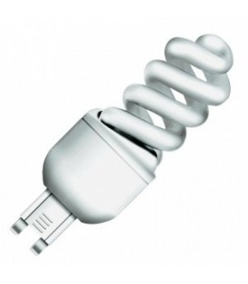 Лампа энергосберегающая Osram 7W/825 G9 теплая, спираль d30x90