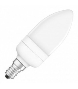 Лампа энергосберегающая Osram Mini Candle 7W/827 E14