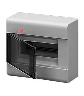 Бокс настенный ABB Europa 8 мод. серый с прозрачной дверцей IP41