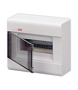 Бокс настенный ABB Europa 8 мод. белый с прозрачной дверцей IP41