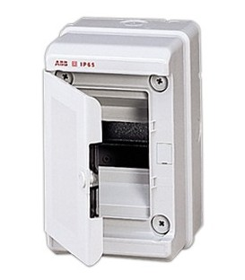 Бокс настенный ABB Europa 4 мод. серый с серой дверцей IP65