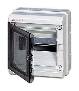 Бокс настенный ABB Europa 8 мод. серый с прозрачной дверцей IP65