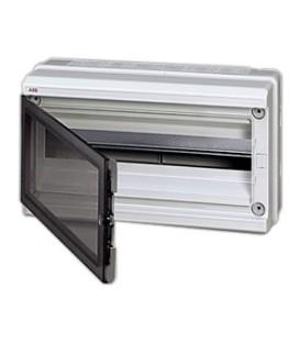 Бокс настенный ABB Europa 18 мод. серый с прозрачной дверцей IP65