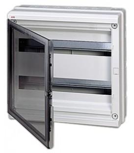 Бокс настенный ABB Europa 36 мод. (2х18) серый с прозрачной дверцей IP65