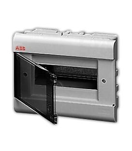 Бокс встраиваемый ABB Europa 8 мод. серый с прозрачной дверцей IP40