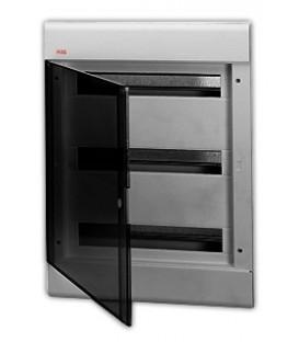 Бокс встраиваемый ABB Europa 54 мод. серый с прозрачной дверцей IP40