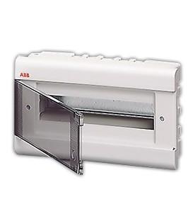 Бокс встраиваемый ABB Europa 12 мод. белый с прозрачной дверцей IP40