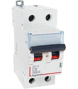 Автоматический выключатель Legrand DX3-E C6A 2п 6000/6kA