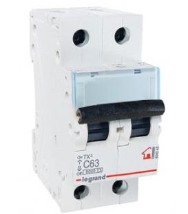 Автоматический выключатель Legrand TX3 C63A 2п 6000