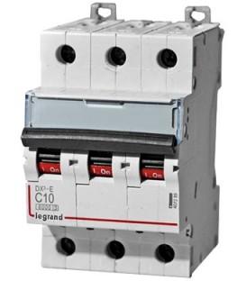 Автоматический выключатель Legrand DX3-E C10A 3п 6000/6kA