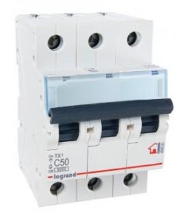 Автоматический выключатель Legrand TX3 C50A 3п 6000