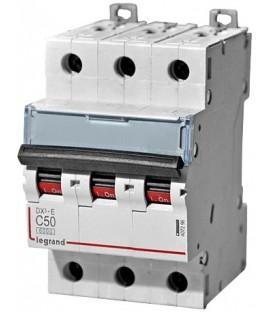 Автоматический выключатель Legrand DX3-E C50A 3п 6000/6kA