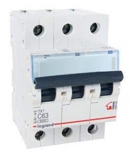 Автоматический выключатель Legrand TX3 C63A 3п 6000