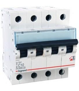 Автоматический выключатель Legrand TX3 C10A 4п 6000
