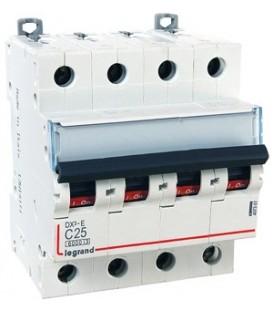 Автоматический выключатель Legrand DX3-E C25A 4п 6000/6kA