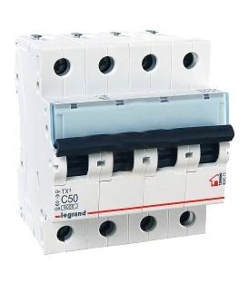 Автоматический выключатель Legrand TX3 C50A 4п 6000