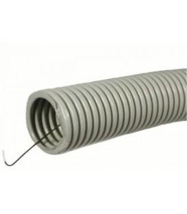 Труба гофрированная ПВХ D25мм с протяжкой (50м)