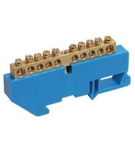 Шина нулевая на DIN-изолятор ШНИ-6х9-10-Д-С